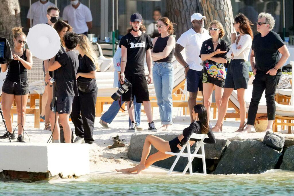 Kendall Jenner on photoshoot for Messika Jewel in St Tropez