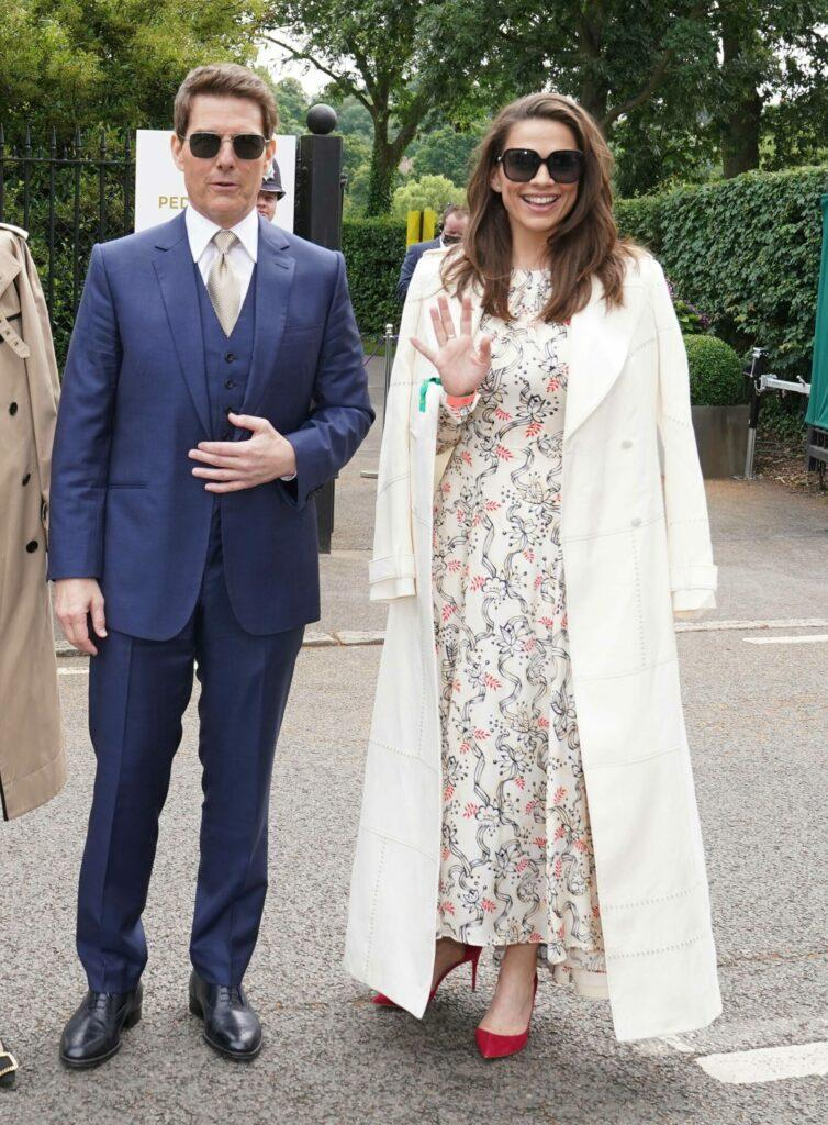Tom Cruise and Hayley Atwell attend Wimbledon