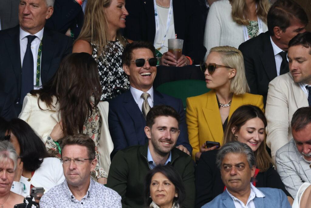Tom Cruise and Hayley Atwell at Wimbledon