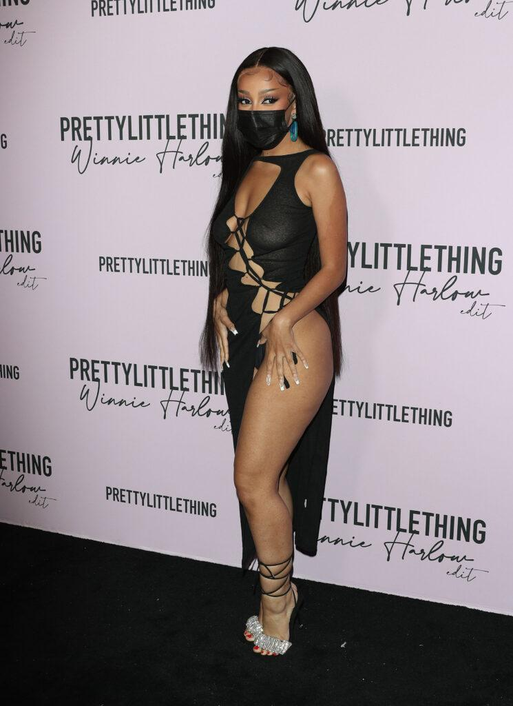 Doja Cat at the PrettyLittleThing Winnie Harlow EDIT Launch Party