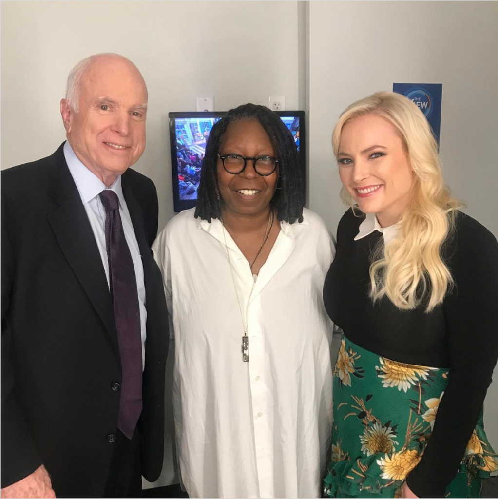 John McCain, Whoopi Goldberg & Meghan McCain at The View