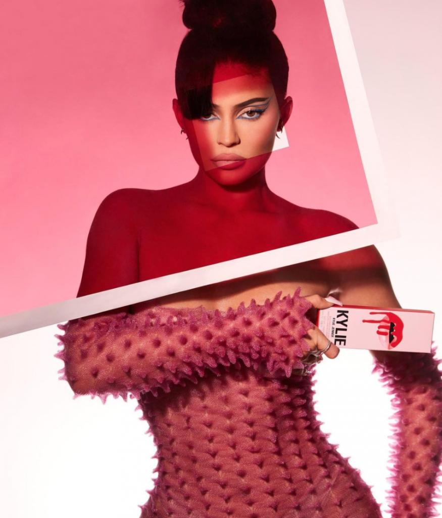 Kylie Jenner holding KylieCosmetics