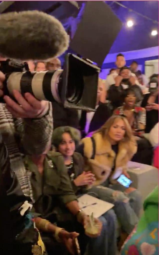 Jennifer Lopez in a crowd