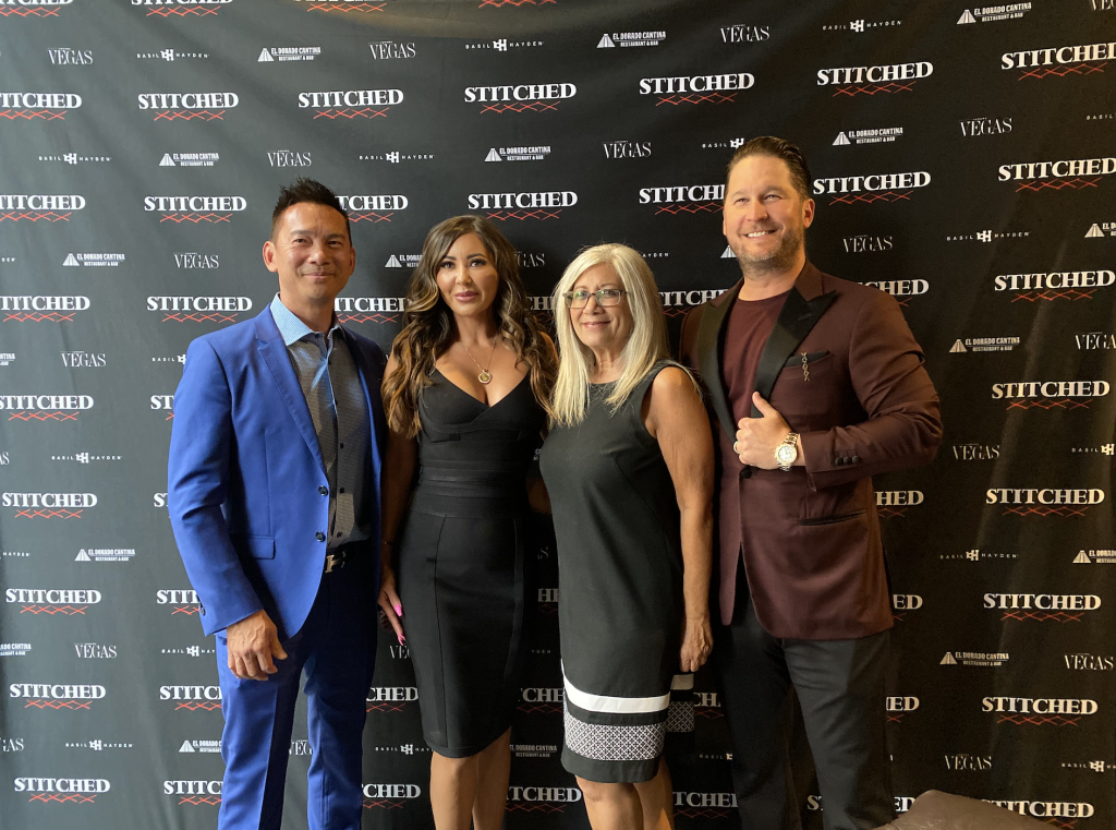 Michele Sullivan and others posing at STITCHED event