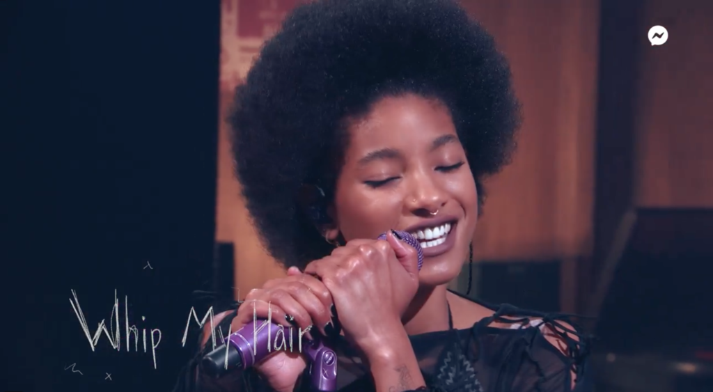 Willow Smith with an afro