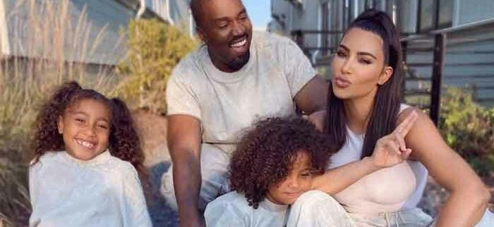 Kim Kardashian & Kids Spotted Supporting Kanye West At 'DONDA' Listening Party