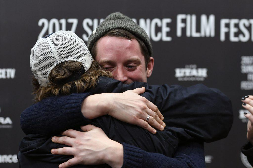 Elijah Wood looks excited to promote his new film apos I don apos t feel at home in this world anymore apos at Sundance 2017