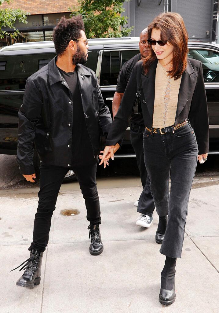The Weeknd and Bella Hadid go for lunch for Bella apos s birthday in New York