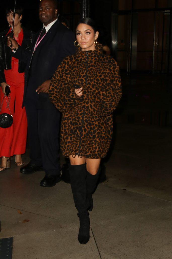 Vanessa Hudgens seen leaving a private party in NYC