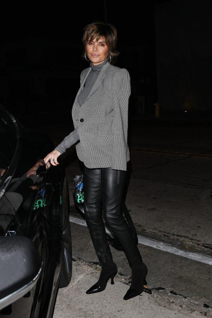 Lisa Rinna and Harry Hamlin along with his mother are seen leaving Craig apos s eatery after having dinner