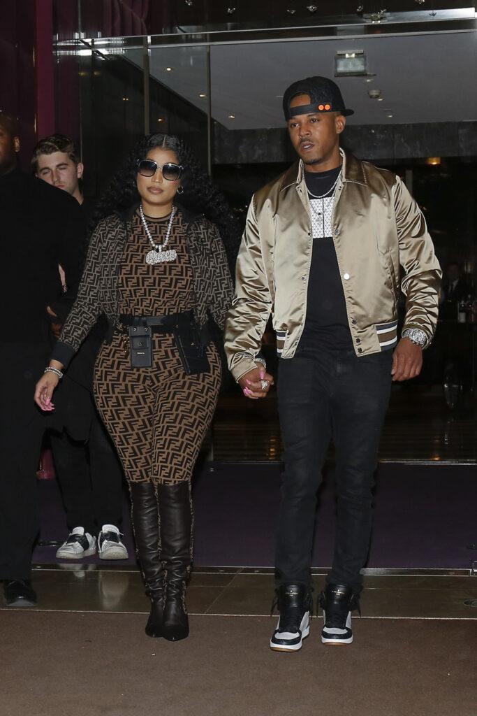 Nicki Minaj Kenneth Petty leaving their hotel in Paris