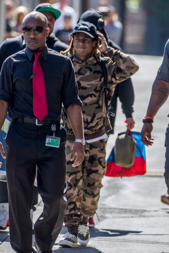Lil apos Wayne is spotted leaving apos Jimmy Kimmel Live apos in Hollywood