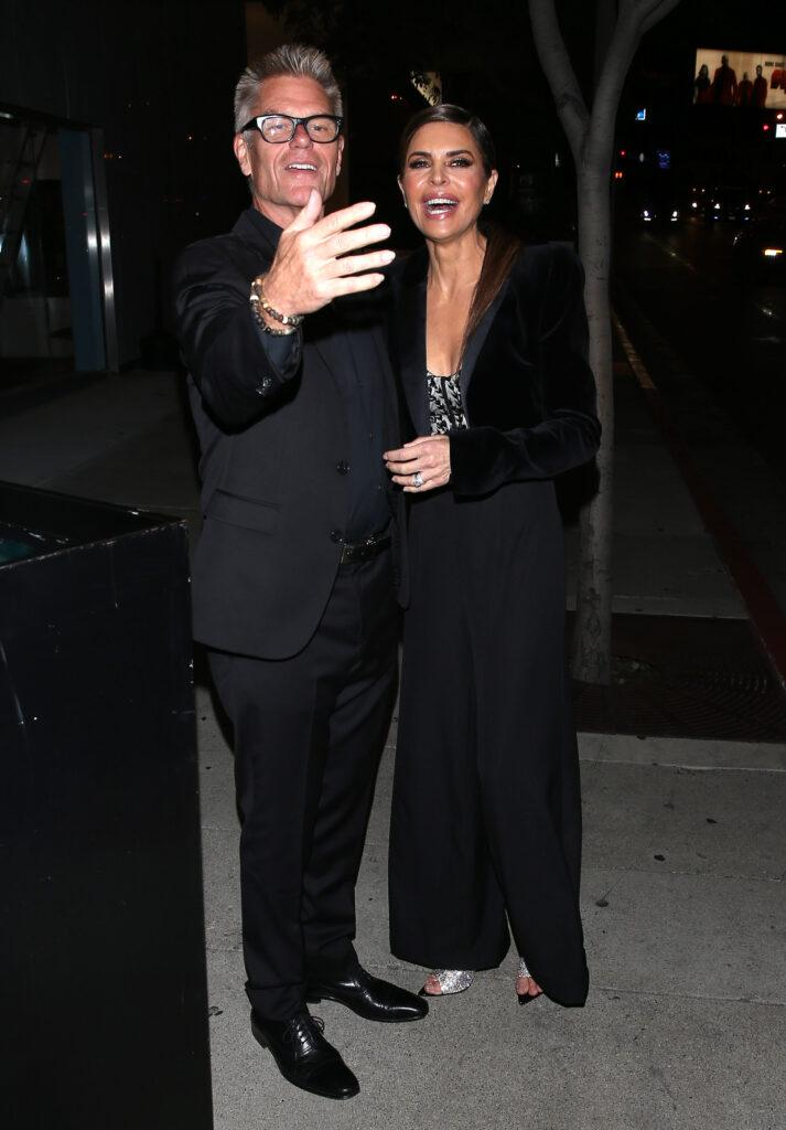 Lisa Rinna and Harry Hamlin were seen leaving a apos BooHoo apos party at apos Bootsy Bellows apos Night Club in West Hollywood CA
