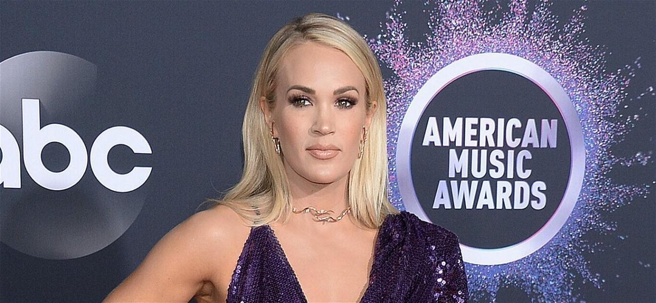 Carrie Underwood Sizzles In Zebra Print Bikini After Reeling In A Fish