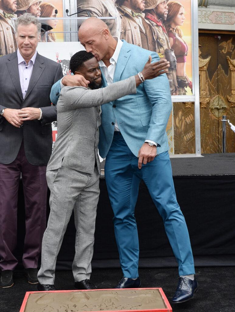 Kevin Hart hand and foot print ceremony
