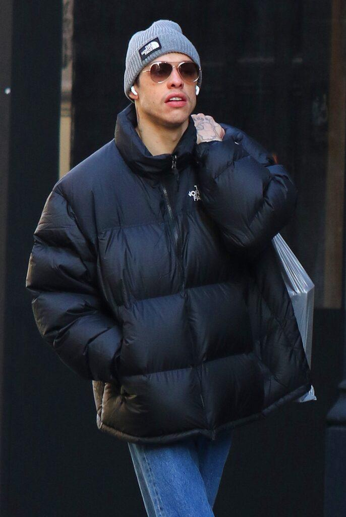 Pete Davidson is seen yawning while out shopping in Manhattan apos s Soho area