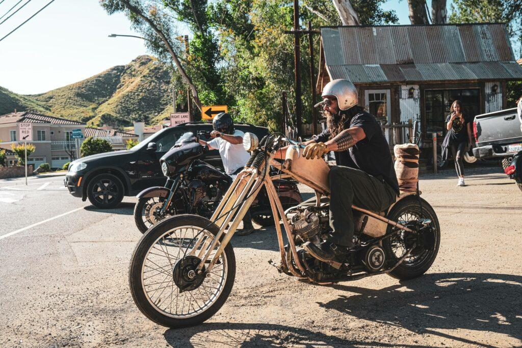 Aquaman Jason Momoa out for a bike ride in Agora Hills on his apos 47 Harley