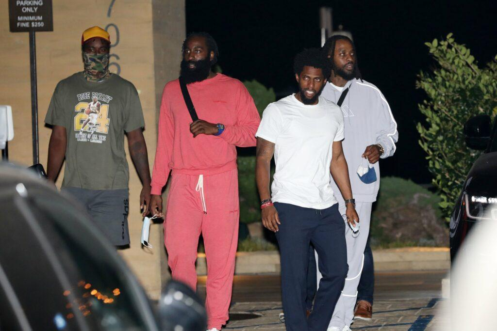 James Harden grabs dinner with his friends at Nobu Malibu