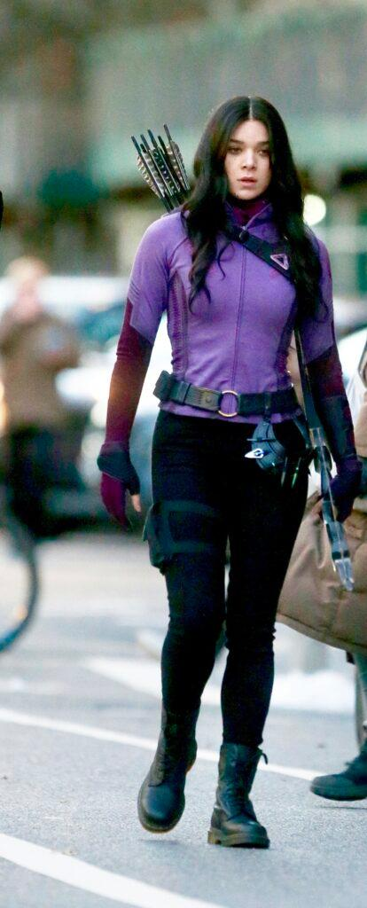 Jeremy Renner Hailee Steinfeld filming quot Marvel apos s quot Hawkeye quot