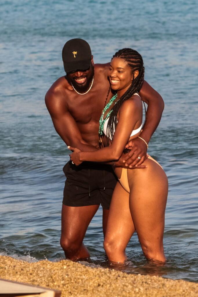 Dwayne Wade and Gabrielle Union on Mykonos