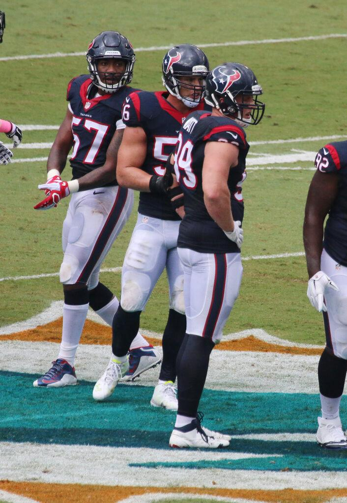 The Houston Texans have released star defensive end J J Watt granting his request