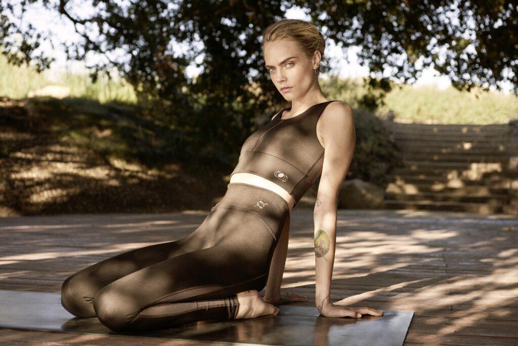 Cara Delevingne in Puma yoga collection