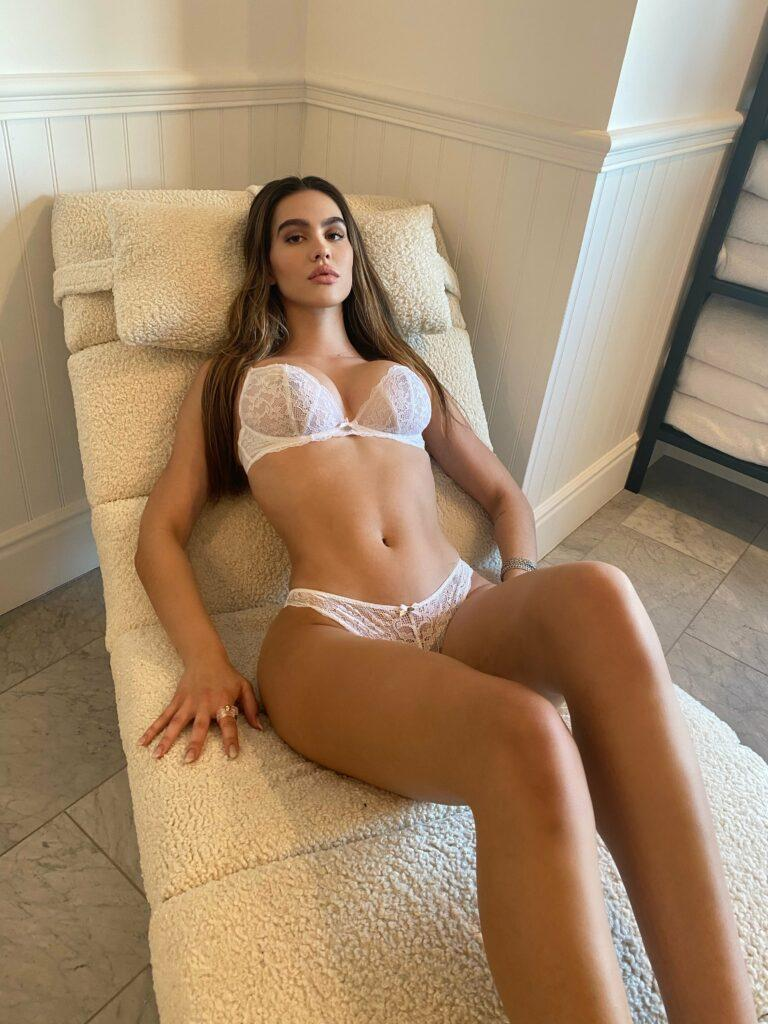 Amelia Hamlin wows in underwear shoot for Boux Avenue campaign