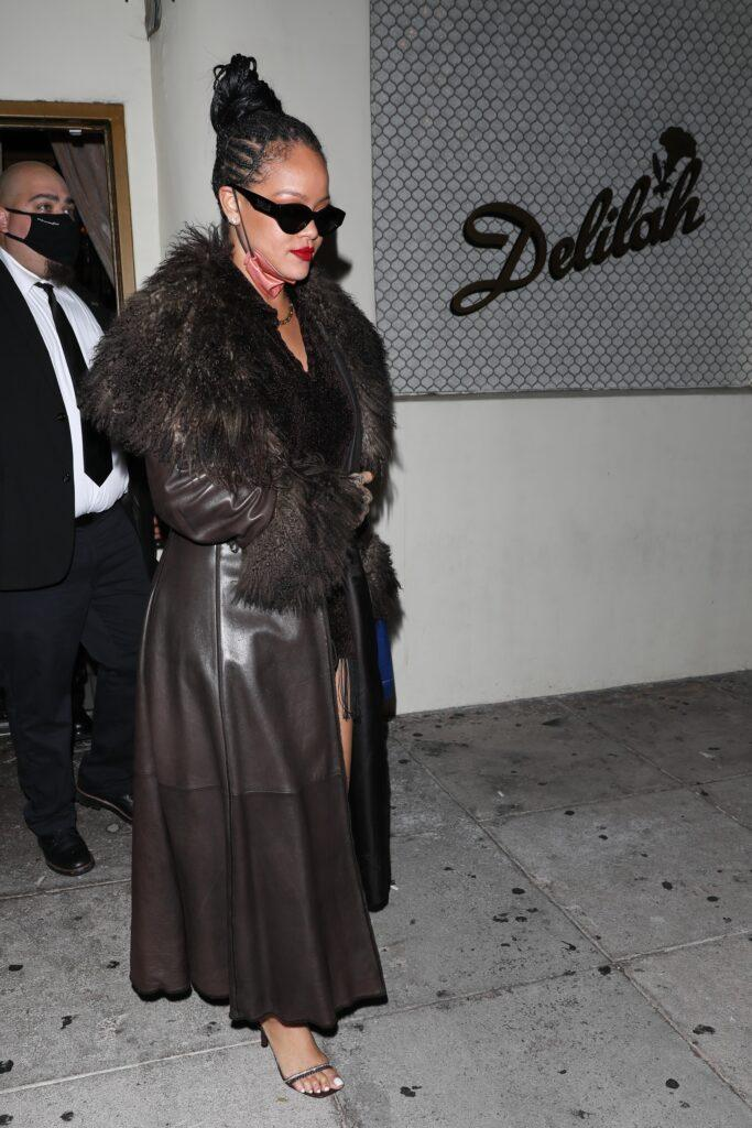 Asap Rocky amp Rihanna are both spotted leaving together at Delilah