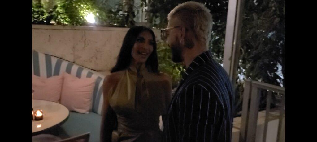 Kim Kardashian is all smiles with Maluma at vip party in Miami