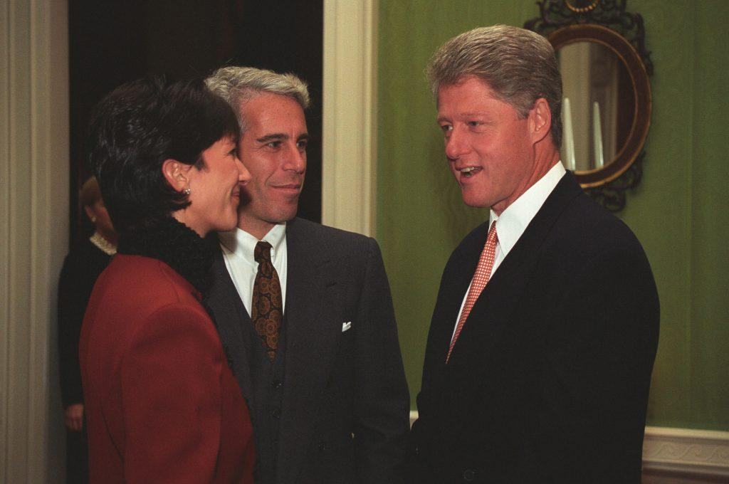 New photos of infamous sex offender Jeffrey Epstein and associate Ghislaine Maxwell at the Clinton White House one day after Maxwell pleaded not guilty to sex-trafficking charges