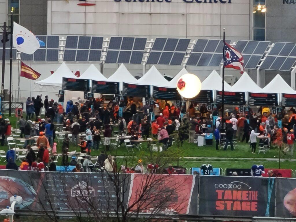 Fans flock to the NFL Draft in Cleveland