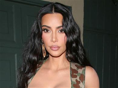 Kim Kardashian Rocks Strapless 'Tortoise Shell' Dress At The Trevi Fountain In Rome