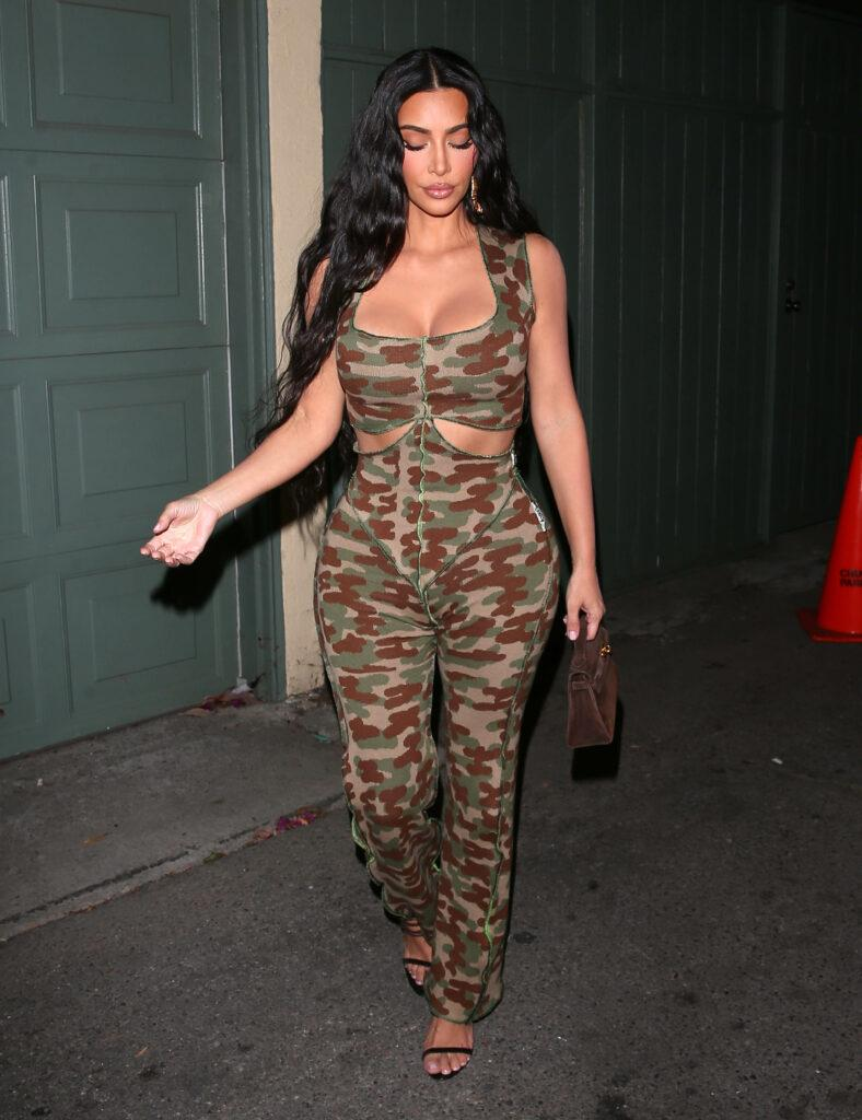 Kylie Jenner Kim and Khloe Kardashian head out for dinner at Craigs in West Hollywood CA