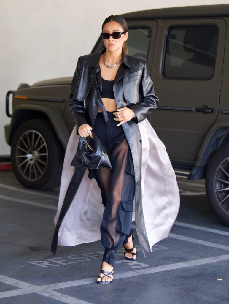 Shay Mitchell Flashes Her Toned Abs in Crop Top As She Runs Errands in Beverly Hills