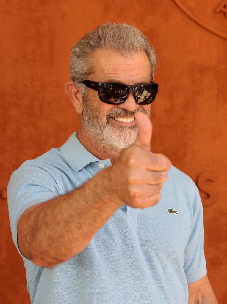 Mel Gibson at the Village of Roland Garros