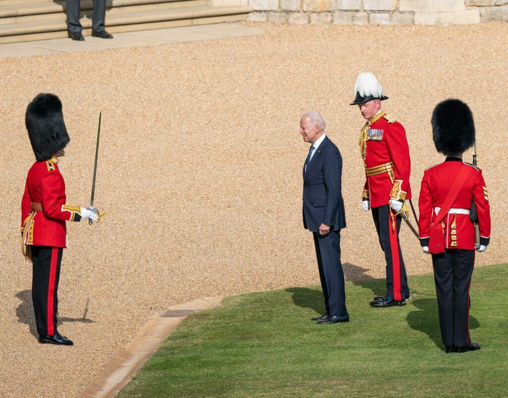 Queen and U S President at Windsor Castle