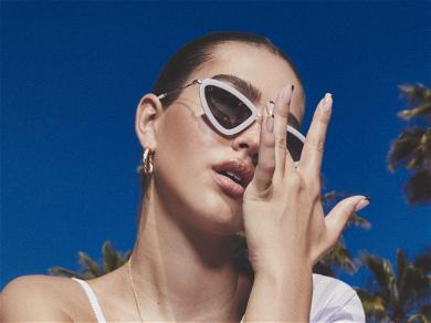 Amelia Hamlin's 'Top Is M.I.A.' In Latest Purple Pants Model Shots