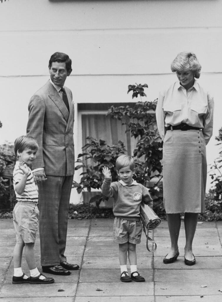 Pic of Prince Charles Princess Diana Prince Harry and Prince William taken in Sep 1987
