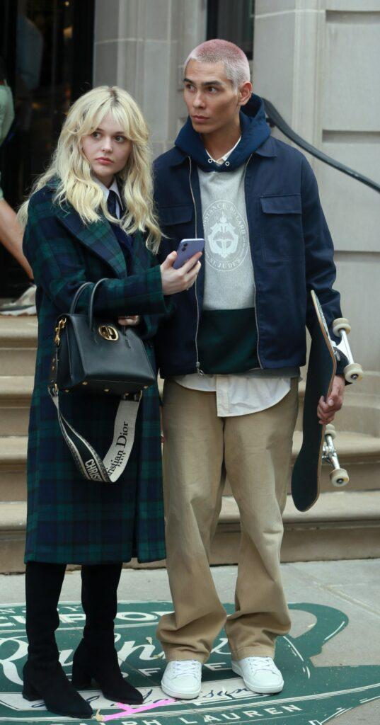 Emily Alyn Lind Evan Mock film HBO Max episode of Gossip Girl