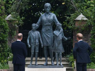 Prince William & Harry's Behavior At Princess Diana Statue Unveiling Revealed
