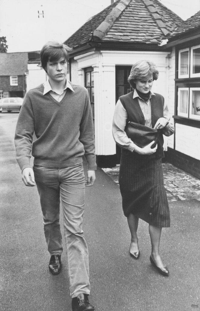 Lady Diana Spencer with her brother Charles