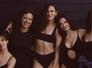 Demi Moore Looks Smoking Hot In Swimsuit While Posing Next To Daughters For New Swimwear Campaign