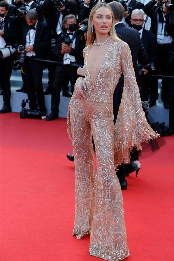 Candice Swanepoel attends the quot Annette quot screening and opening ceremony during the 74th annual Cannes Film Festival on July 06 2021 in Cannes France CAP GOL