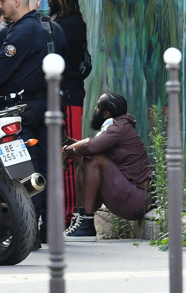 NBA Basket player James Harden during a Police control in Paris