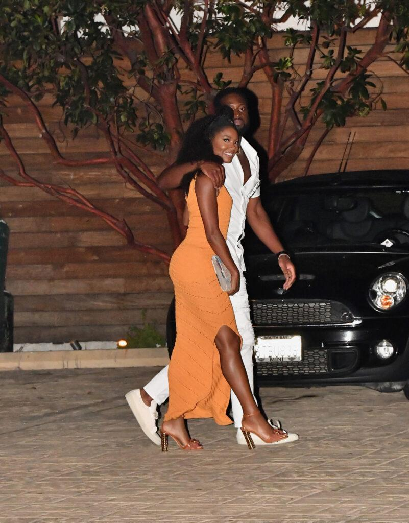 Dwayne Wade and Gabrielle Union go to Dinner at Nobu in Malibu