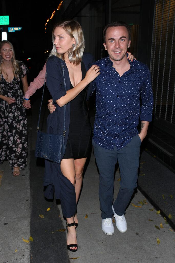 Frankie Muniz and his girlfriend are in a joyous mood as they leave Craig apos s Restaurant