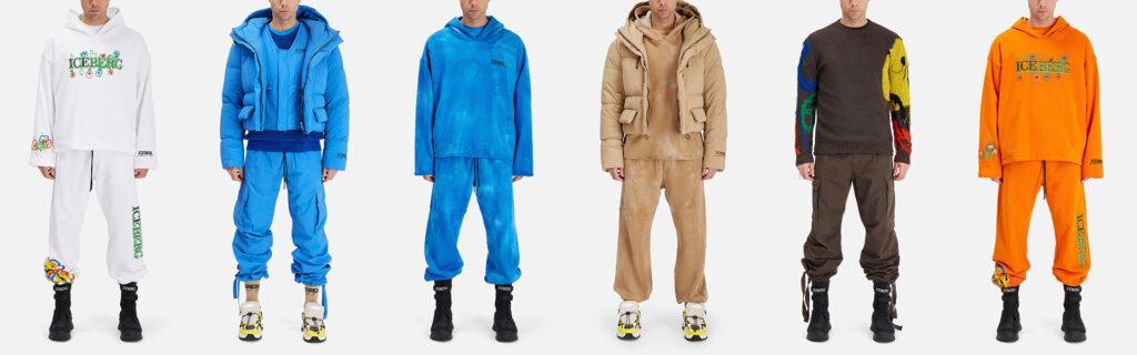 ICEBERG multiple looks of outfits