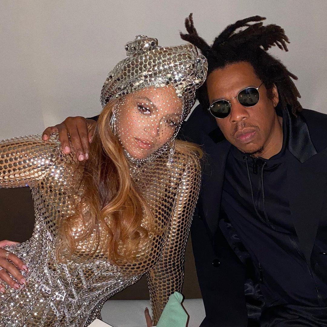 A photo showing Beyoncé and Jay-Z at an event