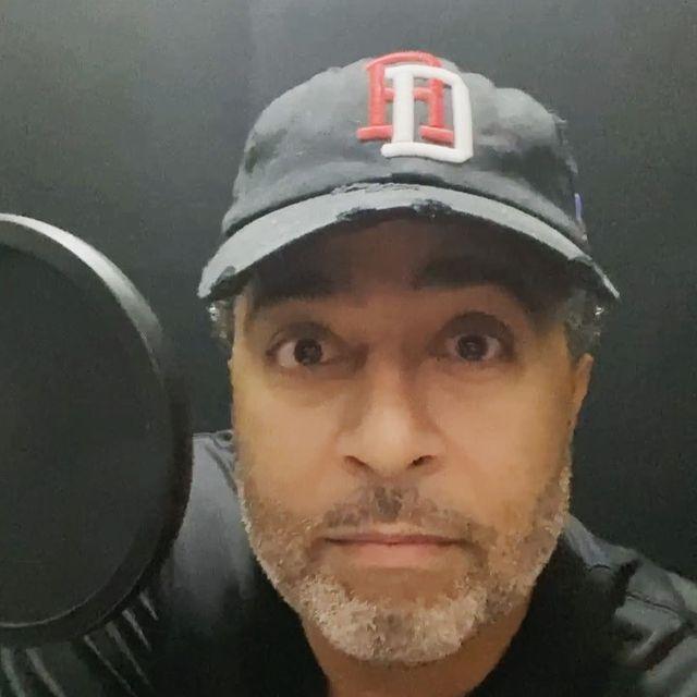 Anthony Mendez recording voiceover