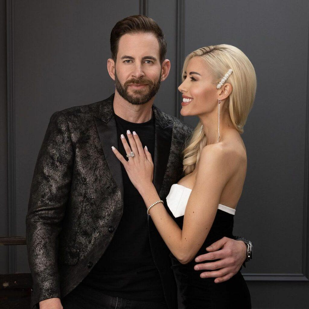A photo showing the lovely couple, Tarek El Moussa and Heather Rae Young.